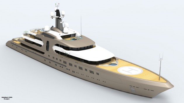 View large version of image: 120 m. Mega Yacht Concept Design (new render)