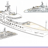 120 m. Mega Yacht Concept Design (Sketchbook)