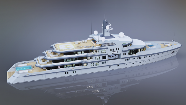 View large version of image: 90 m. Explorer Yacht (new version)